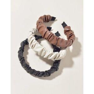 NWT Shein Faux Leather 3 Piece Headband Set